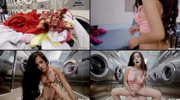 Mofos - Annika Eve cogiendo con en la lavanderia